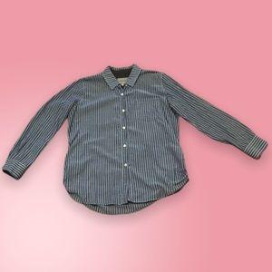 Anthropologie blue & white stripe cotton shirt